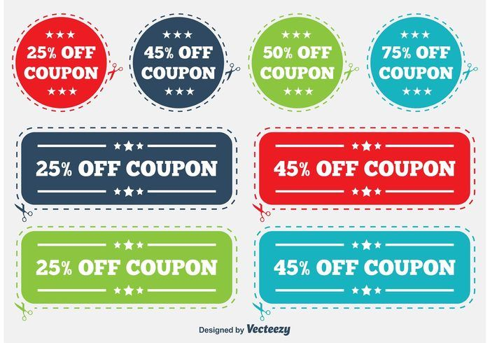 discount coupon labels here is a very useful set of colorful
