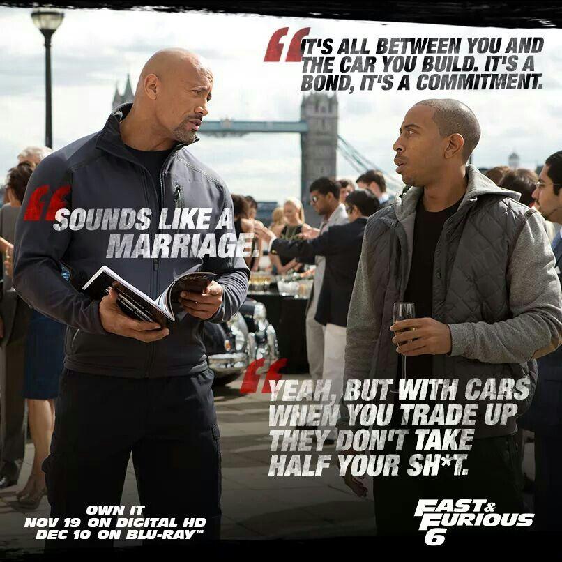 Dwayne Johnson As Hobbs Ludacris As Tej Fast And Furious Memes Fast And Furious Fast Furious Quotes