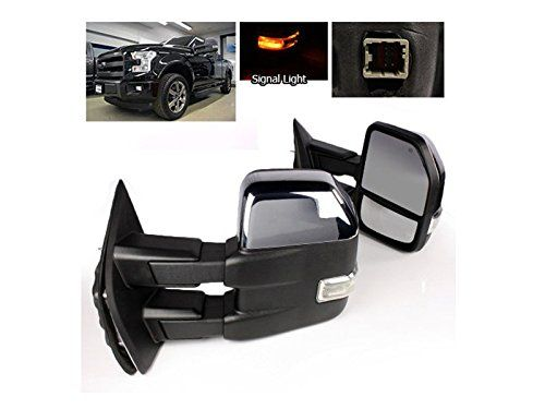 Apa 2015 2016 Ford F150 F 150 Chrome Power Heat Signal Tow Mirror Set 8 Pin Model With Clearance Lamp 2015 2016 Ford F150 Towing Mirrors F150 F150 Accessories