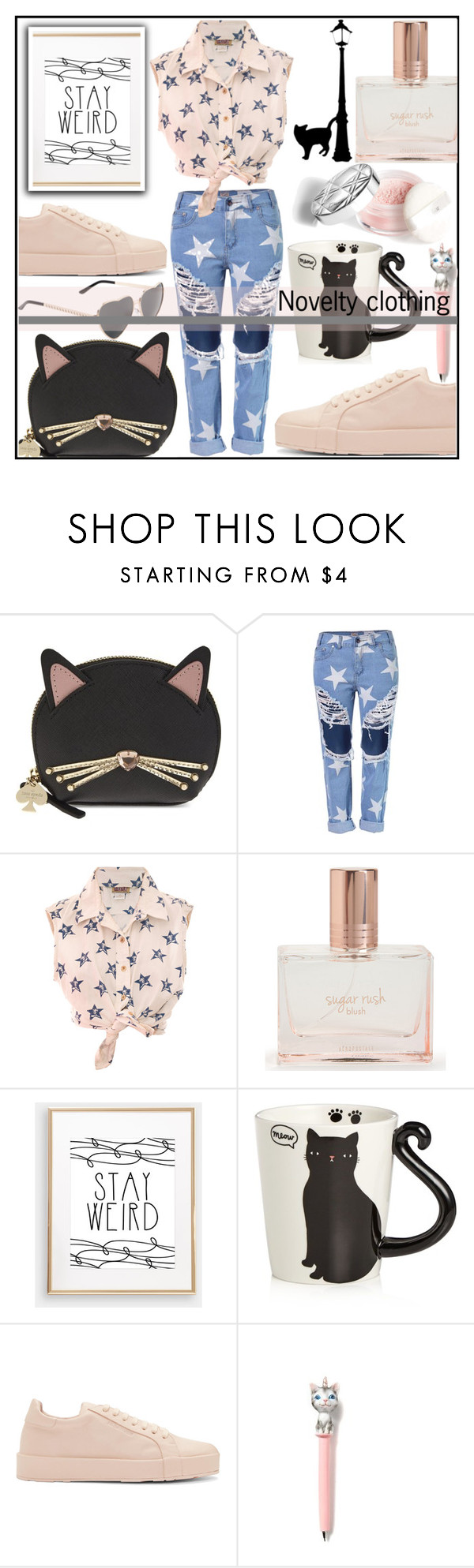 """""""Be weird . Stay weird"""" by kawtar-el ❤ liked on Polyvore featuring Kate Spade, Aéropostale, Tri-coastal Design and Jil Sander"""