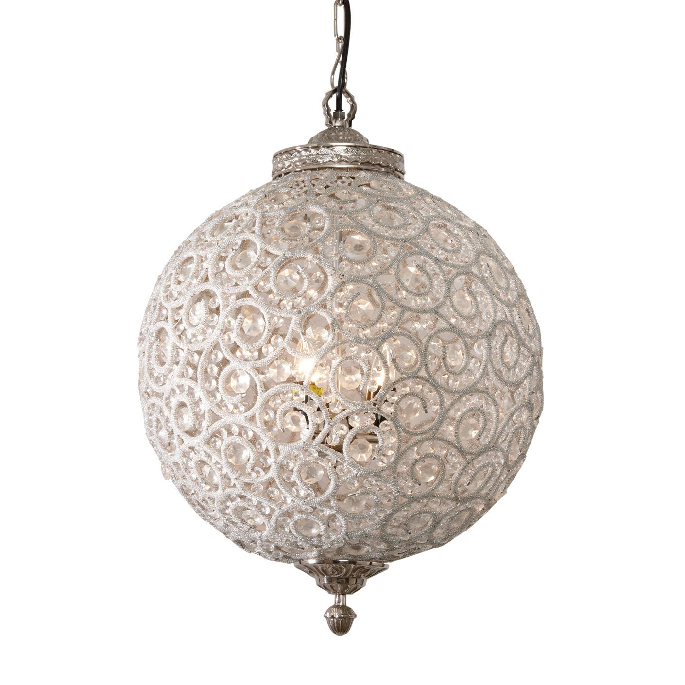 Flowered Ball Chandelier Ethan Allen US Lighting
