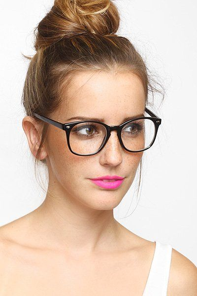768e7d4ac2d We love the circular shape of these nonprescription frames. BleuDame Sam  Rounded Clear Glasses ( 10)