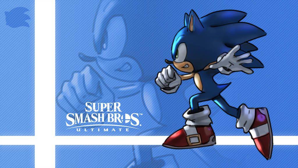 Super Smash Bros Ultimate Sonic By Nin Mario64 Super