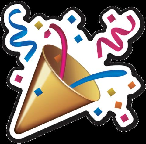 imagen de emojis de confetis png
