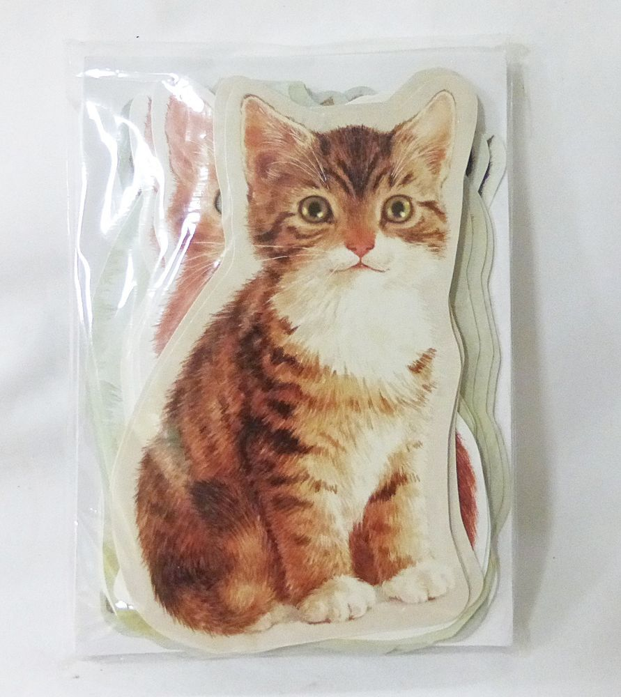greeting card cat shape from creative horizons 18 cards
