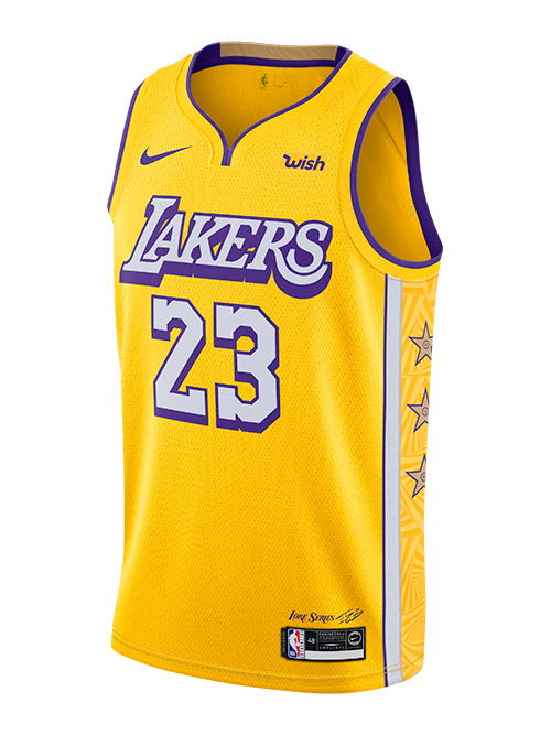 Los Angeles Lakers Lebron James City Edition Swingman Jersey Gold In 2020 Lebron James Lakers Los Angeles Lakers