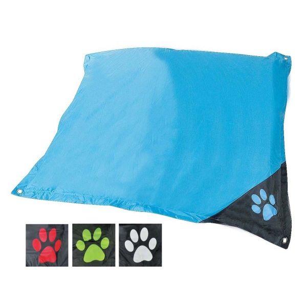 Dog Bed H Duty Waterproof 120x100x6cm 4asst Clrs Black Blue