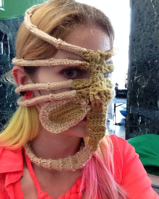 Xenomorph Alien Face Hugger Ski Mask Winter Crochet And Knit Crochet
