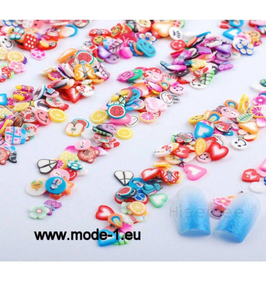 3D Nagel Kunst Plastik Scheibe Dekoration Gemisch | Beauty ...