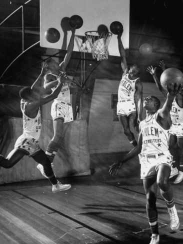 Harlem Globetrotters Playing in a Basketball Game Premium Photographic Print