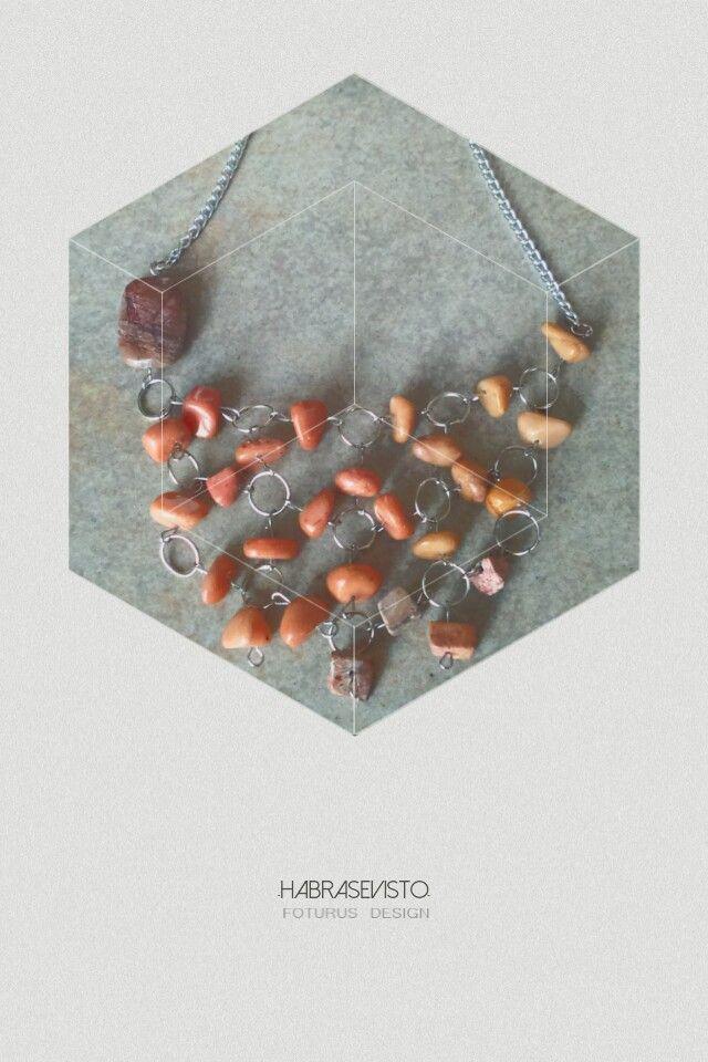 Collar en piedras combinadas   www.habrasevisto.com.ar