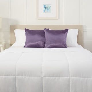 "Nestl Bedding Silky Satin Pillow Sham for Hair and Skin (18"" x 18"" - Purple)"