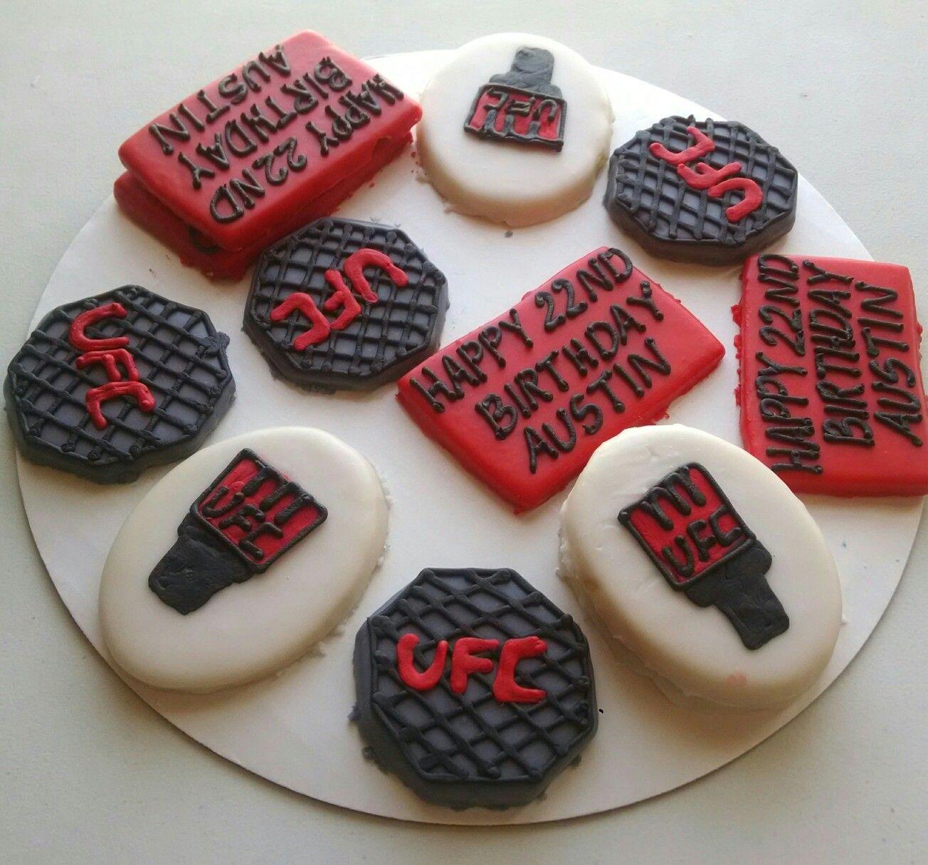 Ufc Cookies Cookies Shop Happy 22nd Birthday Sugar Cookies