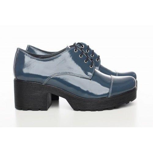 ca01d2904 Купить Синие туфли на каблуке недорого от производителя Туфли, Туфли  Оксфорды