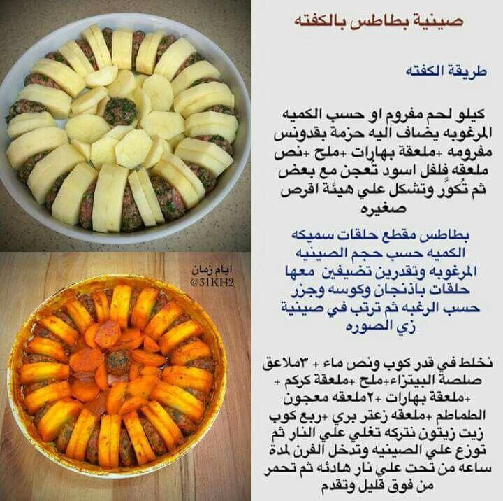 طبخ طبخات صينية كفتة صواني Food Receipes Recipes Cooking Recipes