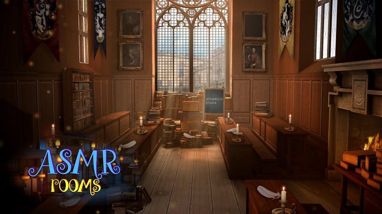 Harry Potter Inspired Asmr Charms Classroom Hogwarts Ambience Sunn Hogwarts Hogwarts Library Ravenclaw House