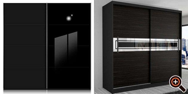 Spectacular Kleiderschrank schwarz Begehbarer u mit Schwebet ren und Spiegel Magazine Design Pinterest Design