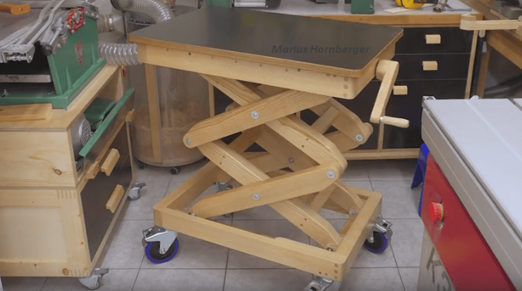 How To Make A Scissor Lift Wooden Table Fast And Easy