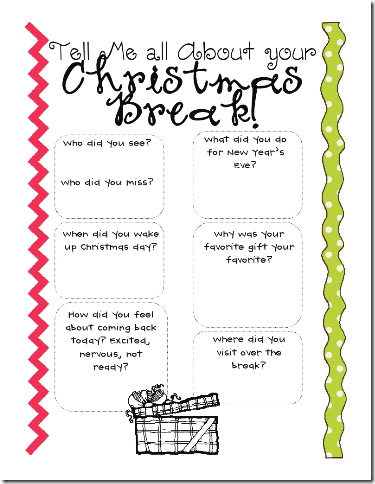 back to school activity - When Does School Start Back After Christmas Break