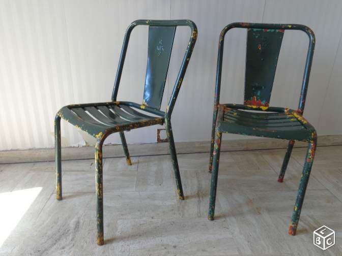 Chaise Tolix T4 Vintage Ameublement Isere Leboncoin Fr Chaises Tolix Ameublement Chaise