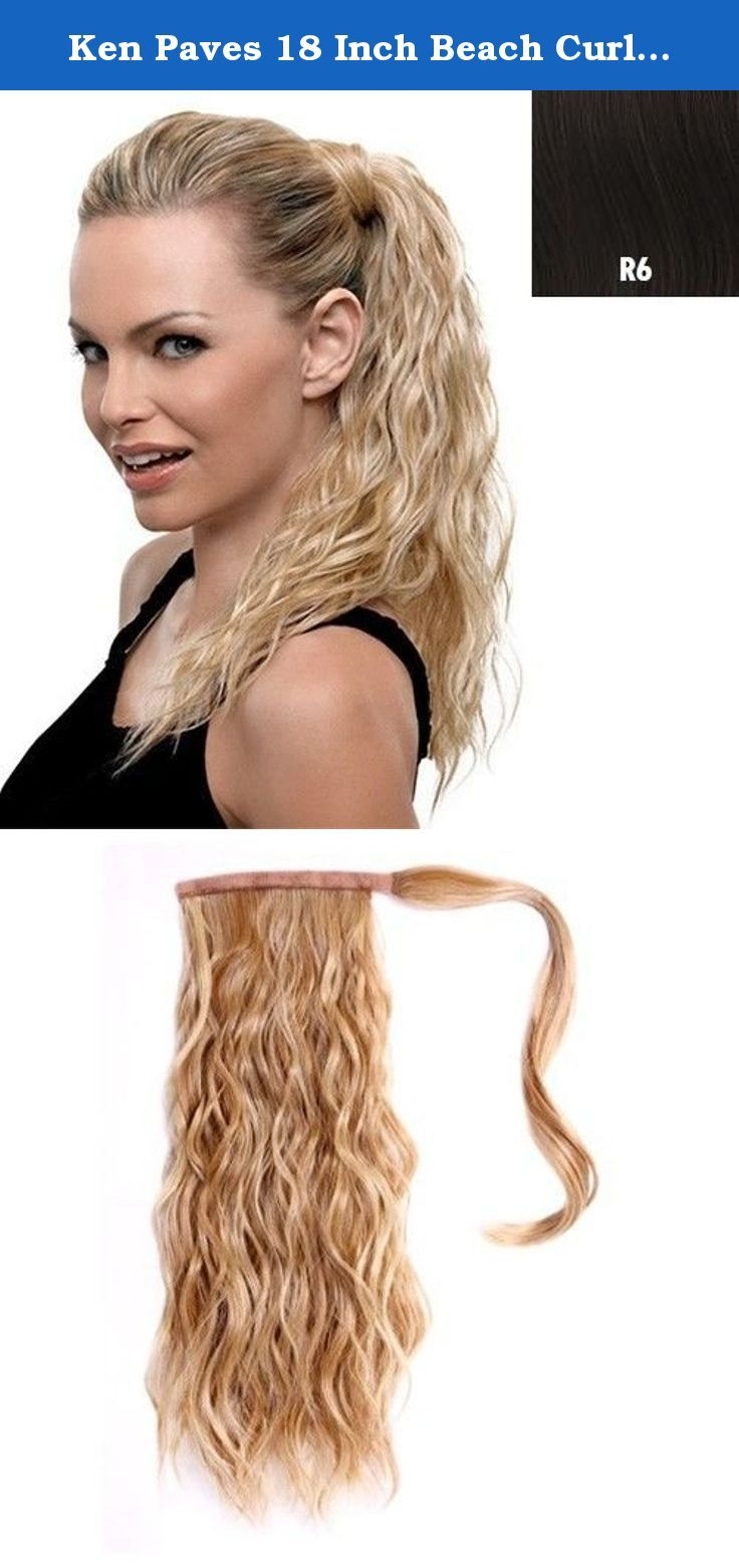 Ken Paves 18 Inch Beach Curl Pony 1 Piece Ken Paves 18 Beach C