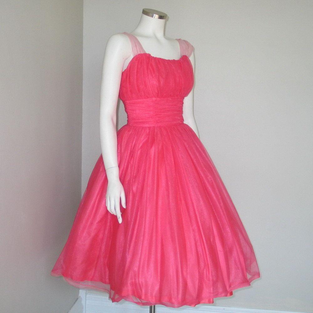 Vintage 1960s hot pink dreamy party dress.   Vintage   Pinterest ...