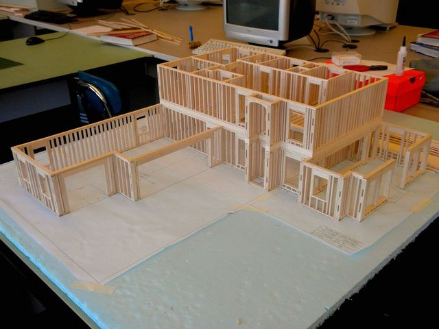 Balsa Wood Model House Model House Kits Model Homes Balsa Wood Models