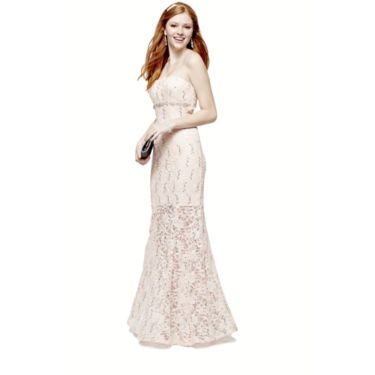 My Michelle Strapless Lace Prom Long Slim Dress Jcpenney 16