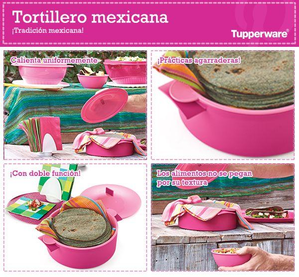 Tu cocina se verá lindísima y tus tortillas se mantendrán calientitas con el Tortillero Mexicana de Tupperware.