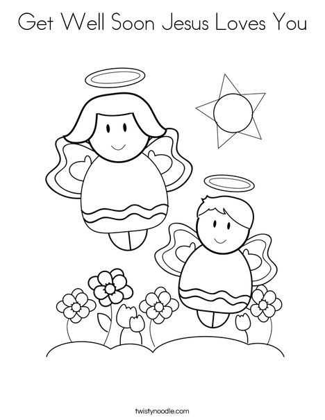 Get Well Soon Jesus Loves You Coloring Page Twisty Noodle Love