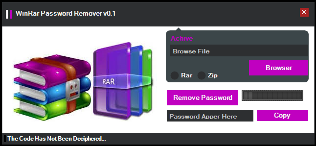 winrar file password remover free download