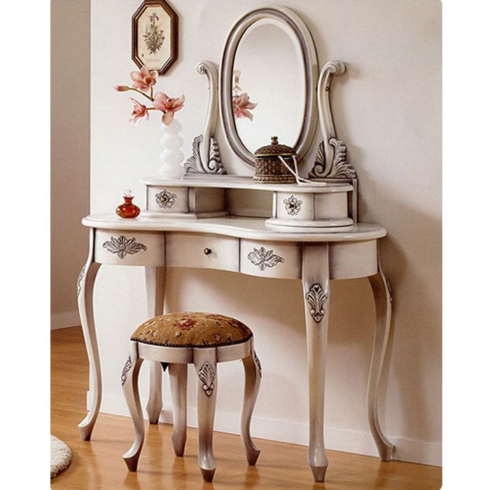 antique bedroom makeup vanity - Antique Bedroom Makeup Vanity Design Ideas 2017-2018 Pinterest