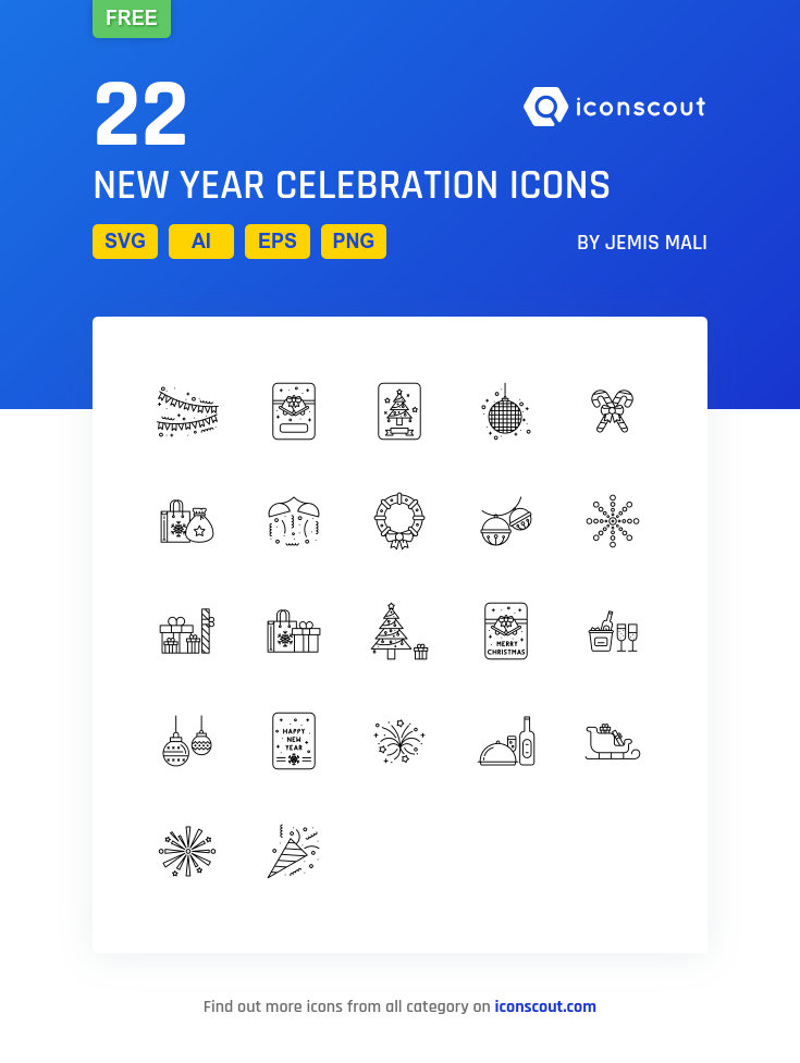 Download Download New Year Celebration Icon pack - Available in SVG ...