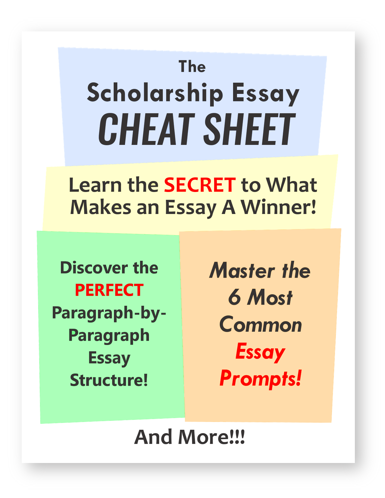 Apa Format Essay Example Paper The Scholarship Essay Cheat Sheet Breaks Down The  Most Common Essay  Prompts The Perfect Essay Structure And The Key To A Winning Essay Plus  Its Free Thesis Statement For A Persuasive Essay also Essay Writing On Newspaper The Scholarship Essay Cheat Sheet Breaks Down The  Most Common  Purpose Of Thesis Statement In An Essay