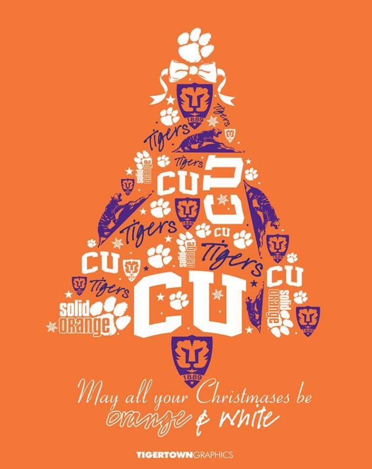 Merry Christmas And Happy Holidays Clemson Tiger Nation