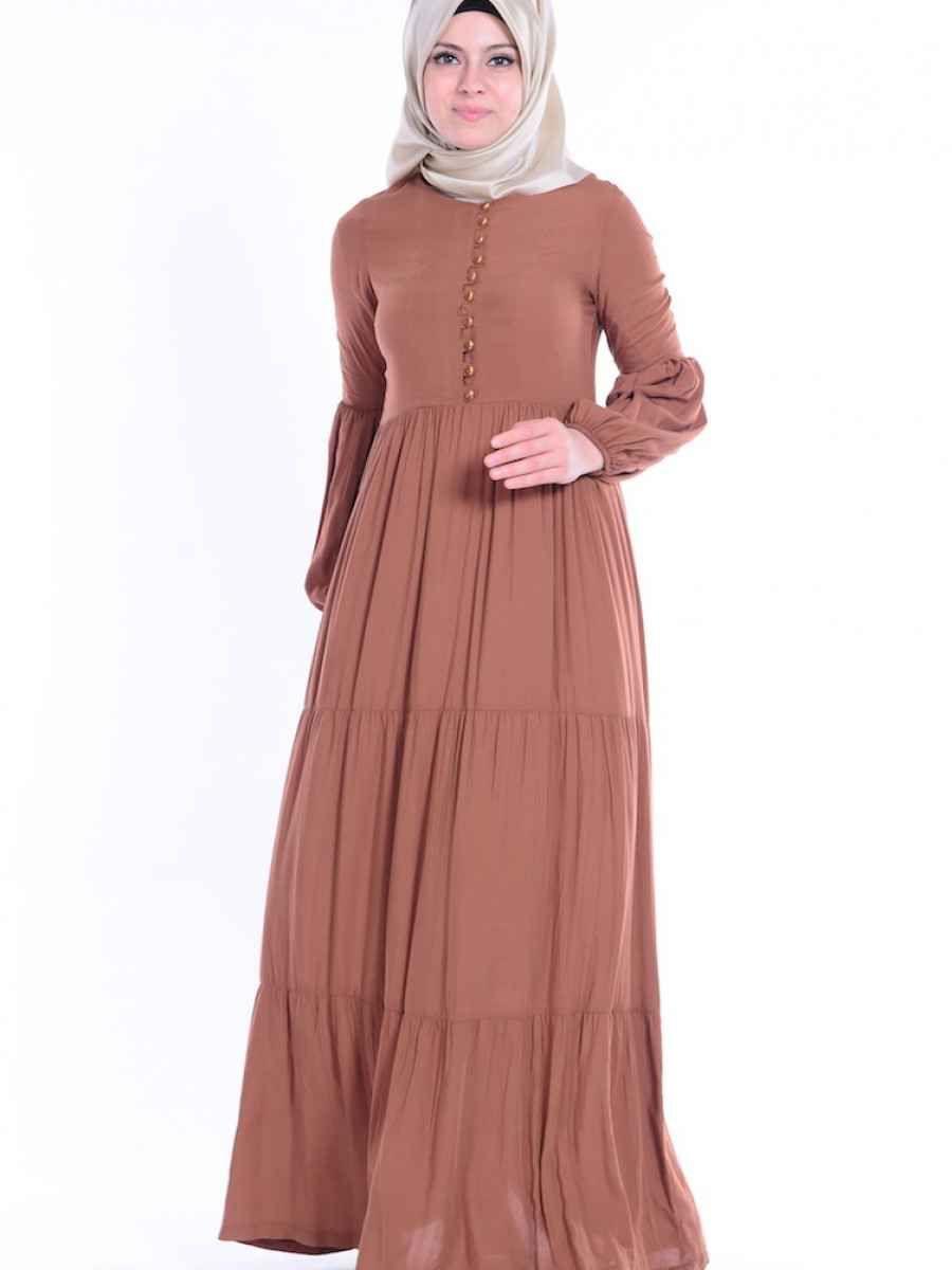 Sefamerve Buzgulu Tesettur Elbise Modelleri Moda Tesettur Giyim Elbise Modelleri Elbise Victorian Elbiseler