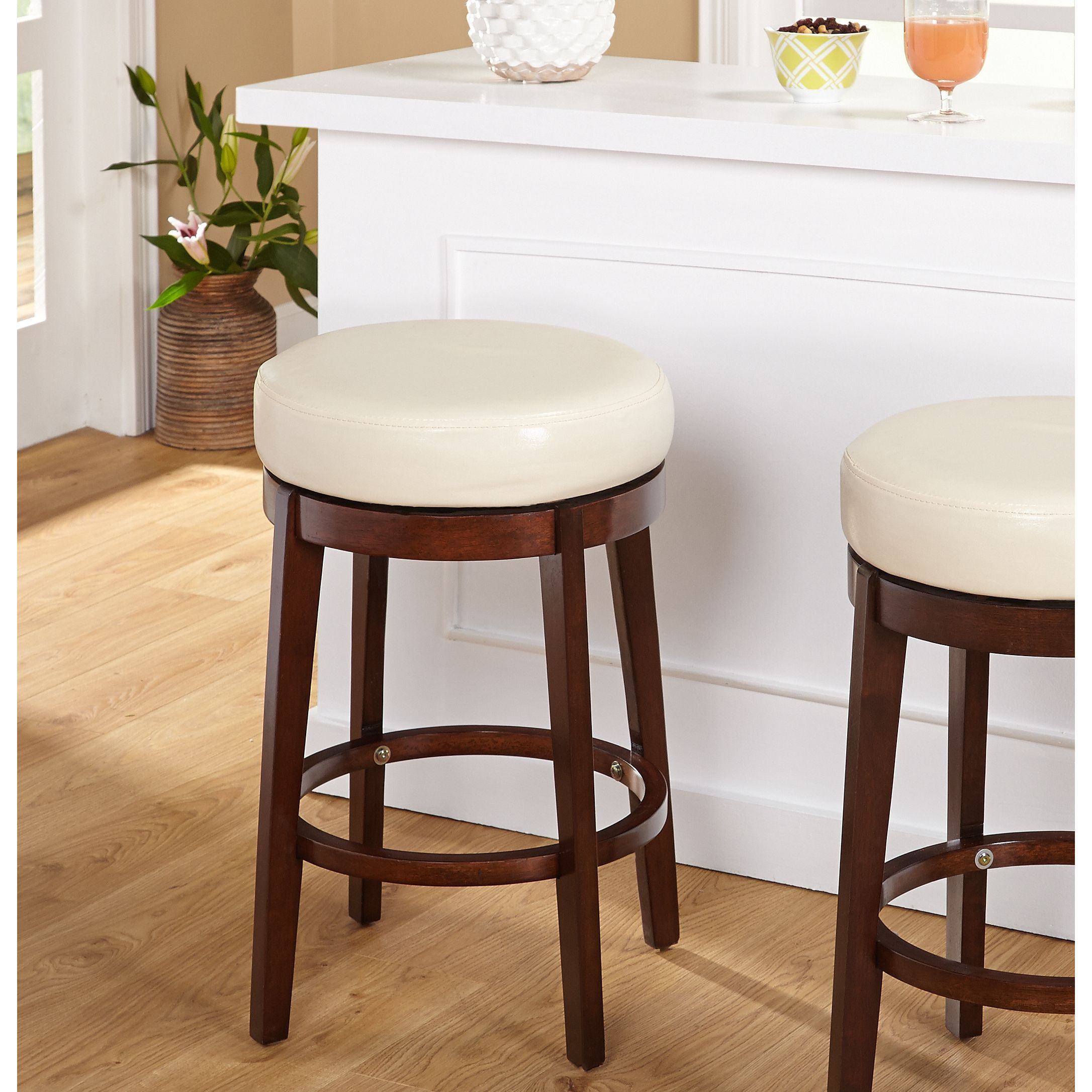 Astounding Simple Living 24 Inch Avenue Swivel Stool 24 Inch Avenue Onthecornerstone Fun Painted Chair Ideas Images Onthecornerstoneorg