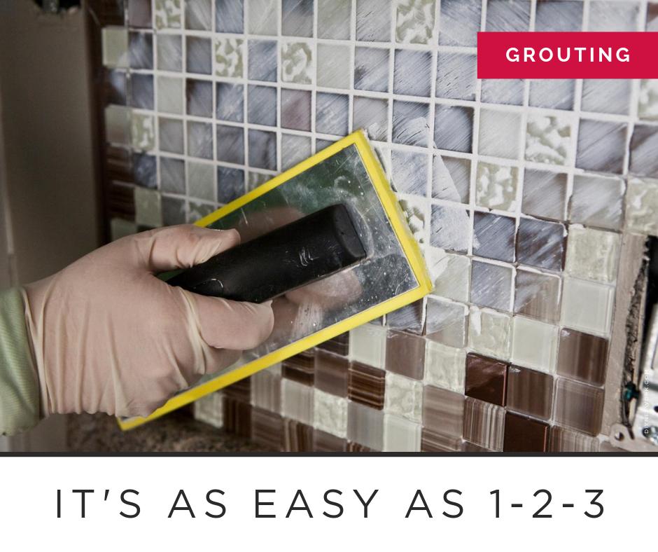 how to grout a tile backsplash like a