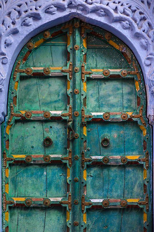 Jodhpur, Rajasthan, India Arched doors, Indian doors