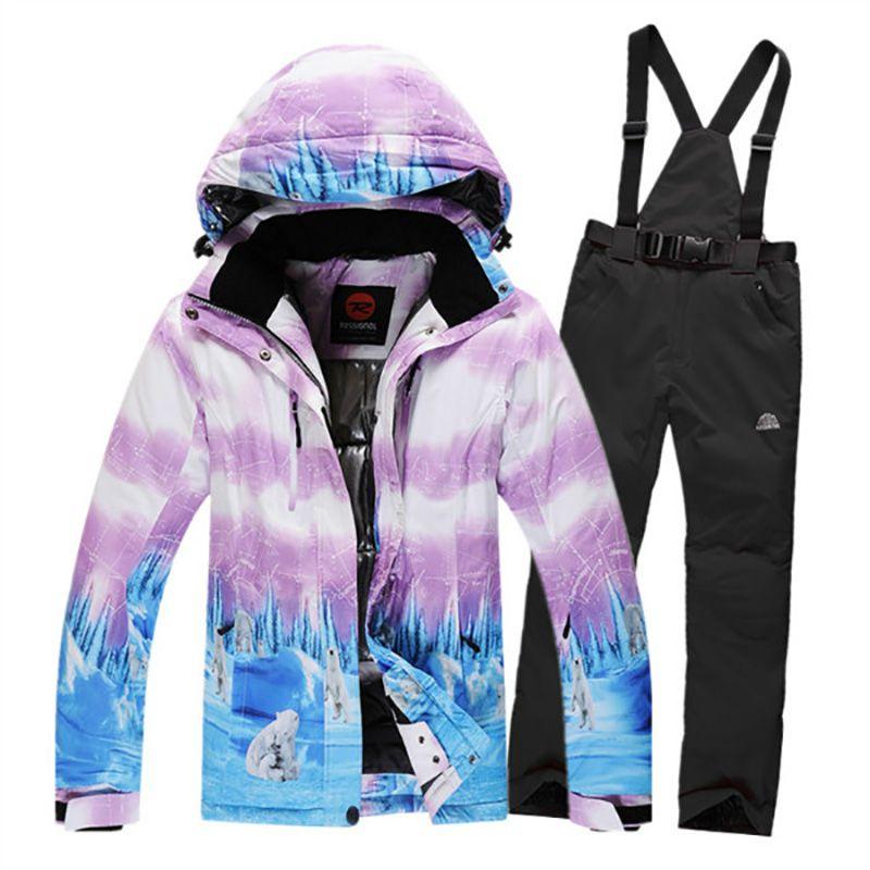 pas cher costumes de ski en hiver pour femmes waterpoof. Black Bedroom Furniture Sets. Home Design Ideas