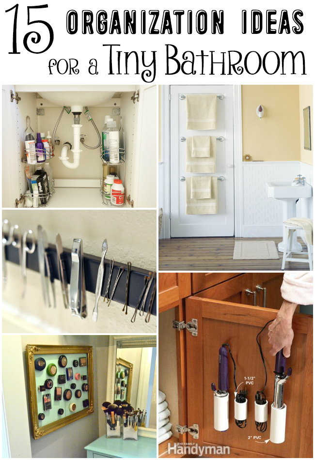 15 Clever Organization Ideas For A Tiny Bathroom Small