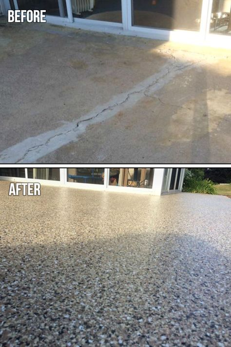 Graniflex Patio Makeover Concrete Patio Patio Flooring