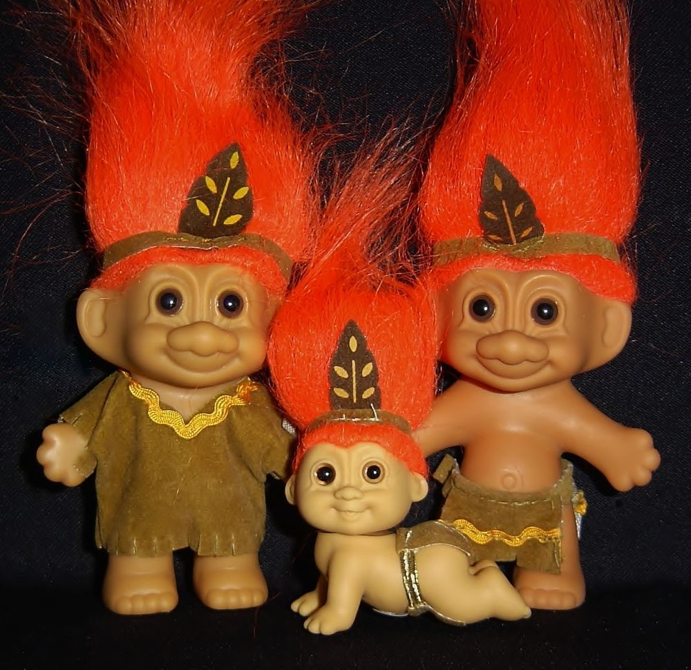 "5/"" Russ Troll Doll NATIVE AMERICAN INDIAN NEW IN ORIGINAL WRAPPER"