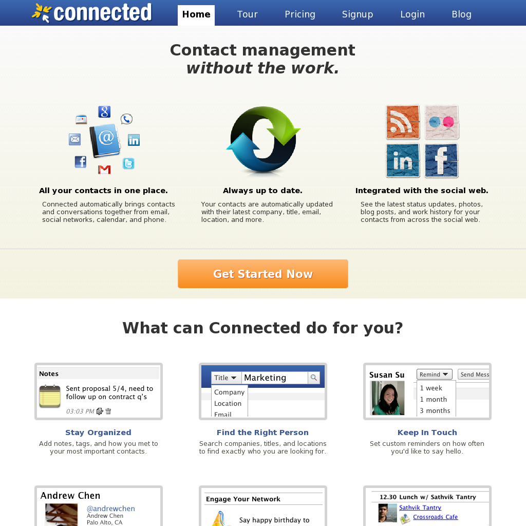 Connected Contact Management Without The Work... Social