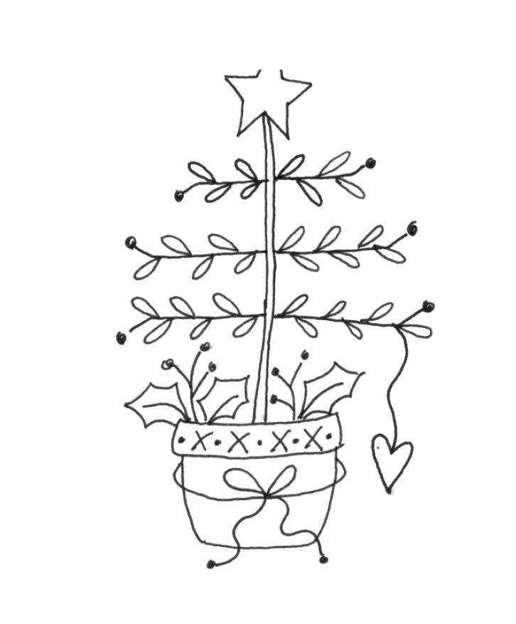 Christmas trees embroidery | embroidery | Pinterest | Bordado ...