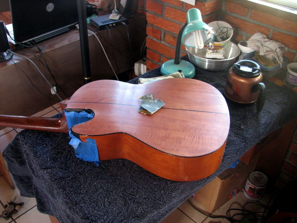 I Had This Old Acoustic Guitar And Decided To Convert It To An Electric Resonator Guitar I M Retired In Costa Rica Resonator Guitar Guitar Acoustic Guitar