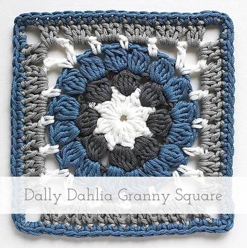 Dally Dahlia Granny Square | Free pattern + Tutorial | häkeln ...