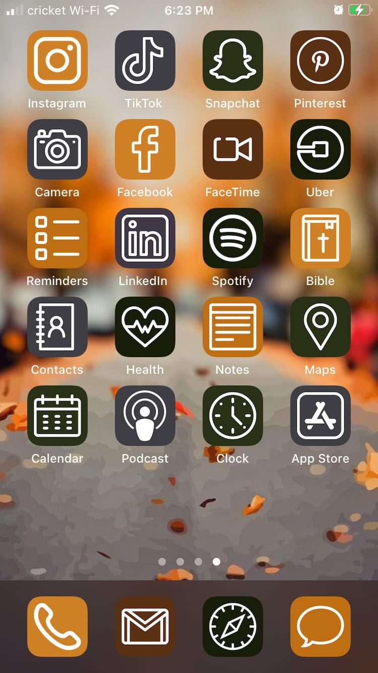 Fall Theme Ios 14 Aesthetic Iphone App Icons 50 Pack Etsy In 2020 App Icon Iphone Apps Homescreen Iphone