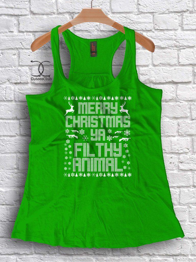 Merry Christmas Ya Filthy Animal Grinch shirts, Merry