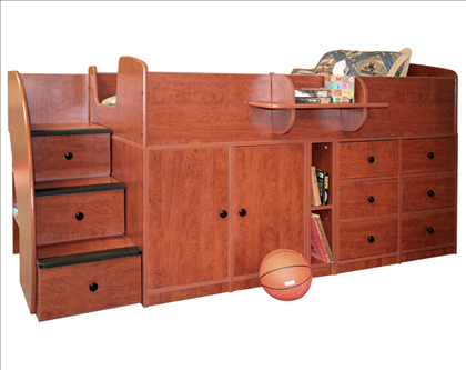 Berg Furniture Captains Bed With Drawers Cabinet Amp Stairs